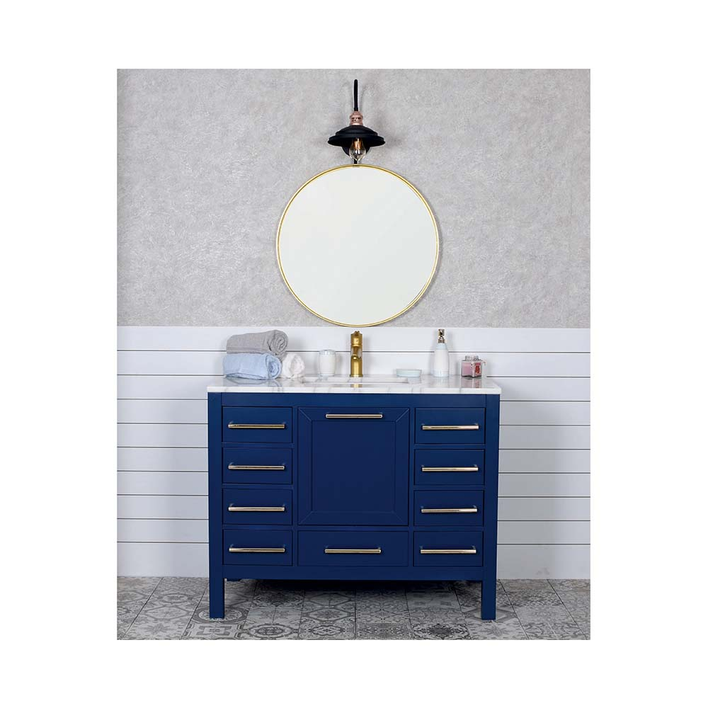 Navy Blue Bathroom Vanity
