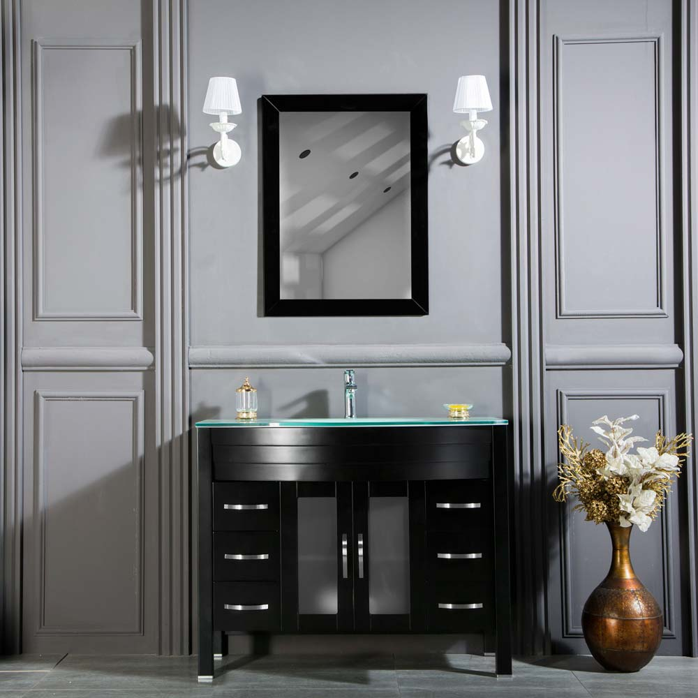 Awis 42 Black Bathroom Cabinet