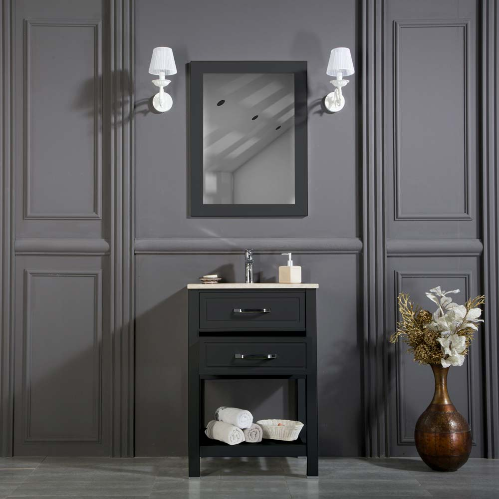 Fawio 24 Anthracite Bathroom Cabinet