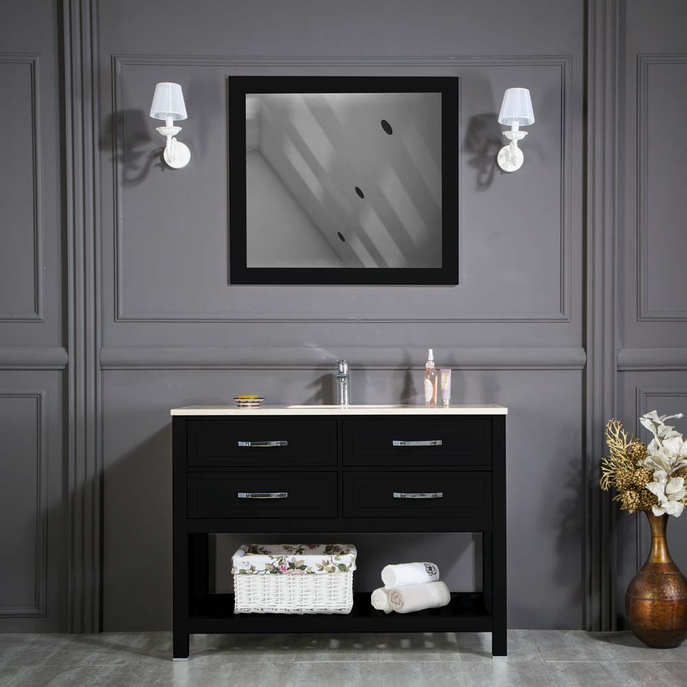 Fawio 48 Black Bathroom Cabinet